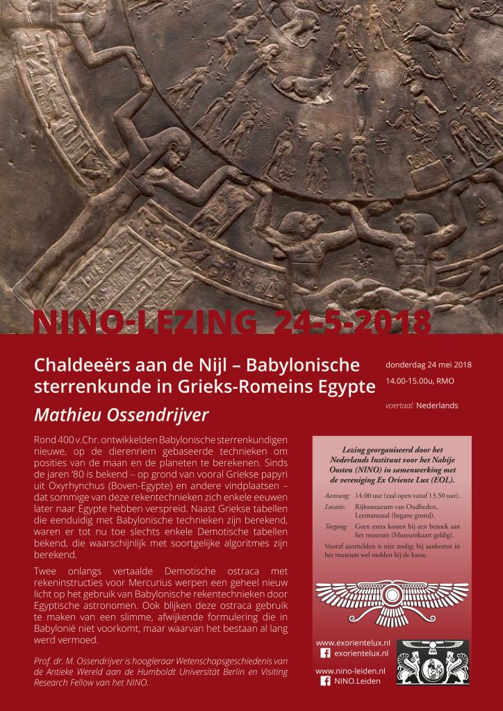Chaldeeërs aan de Nijl – Babylonische sterrenkunde in Egypte @ Rijksmuseum van Oudheden